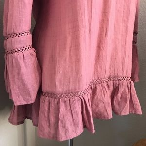 Tops - Pink Bell Sleeve Tunic